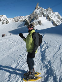 Snow Shoeing a Glacier on Mont Blanc