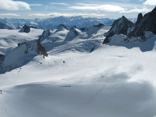 Skiing the Mont Blanc Massif